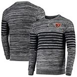 Men's Gray Chicago Bears Marled Knit Henley Long Sleeve T-Shirt