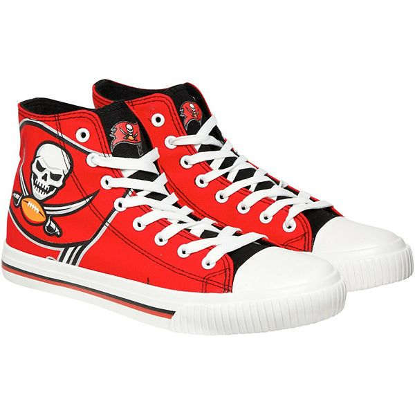 men s tampa bay buccaneers big logo high top shoes men s tampa bay buccaneers big logo high top shoes