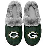 Women's Green Bay Packers Cable Knit Slide Slippers