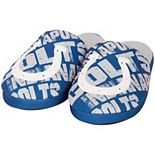 Youth Royal Indianapolis Colts Wordmark Printed Slippers