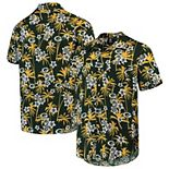 Men's Green Green Bay Packers Floral Woven Button-Up Shirt