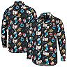 Men's Black Carolina Panthers Winter Explosion Long Sleeve Woven Button-Up Shirt