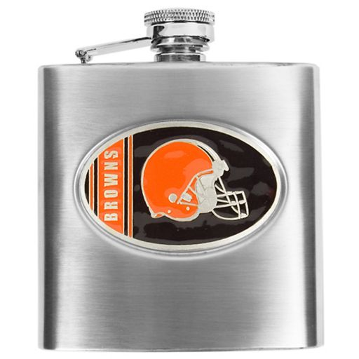 Cleveland Browns 6-Ounce Stainless Steel Hip Flask