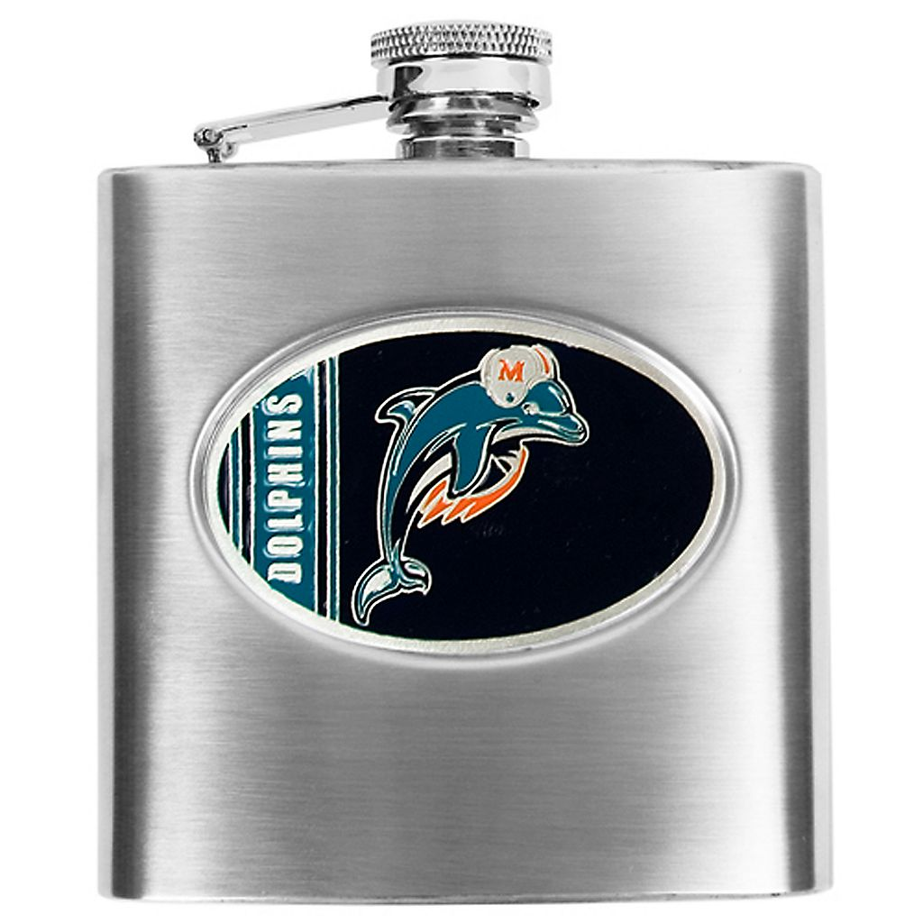 Miami DolphinsStainless Steel Hip Flask
