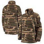 Women's Camo Michigan State Spartans OHT Military Appreciation Sherpa Quarter-Zip Pullover Jacket
