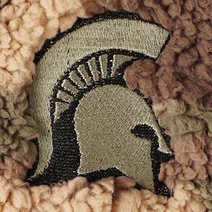 Women's Camo Michigan State Spartans OHT Military Appreciation Sherpa Quarter-Zip Pullover Jacket