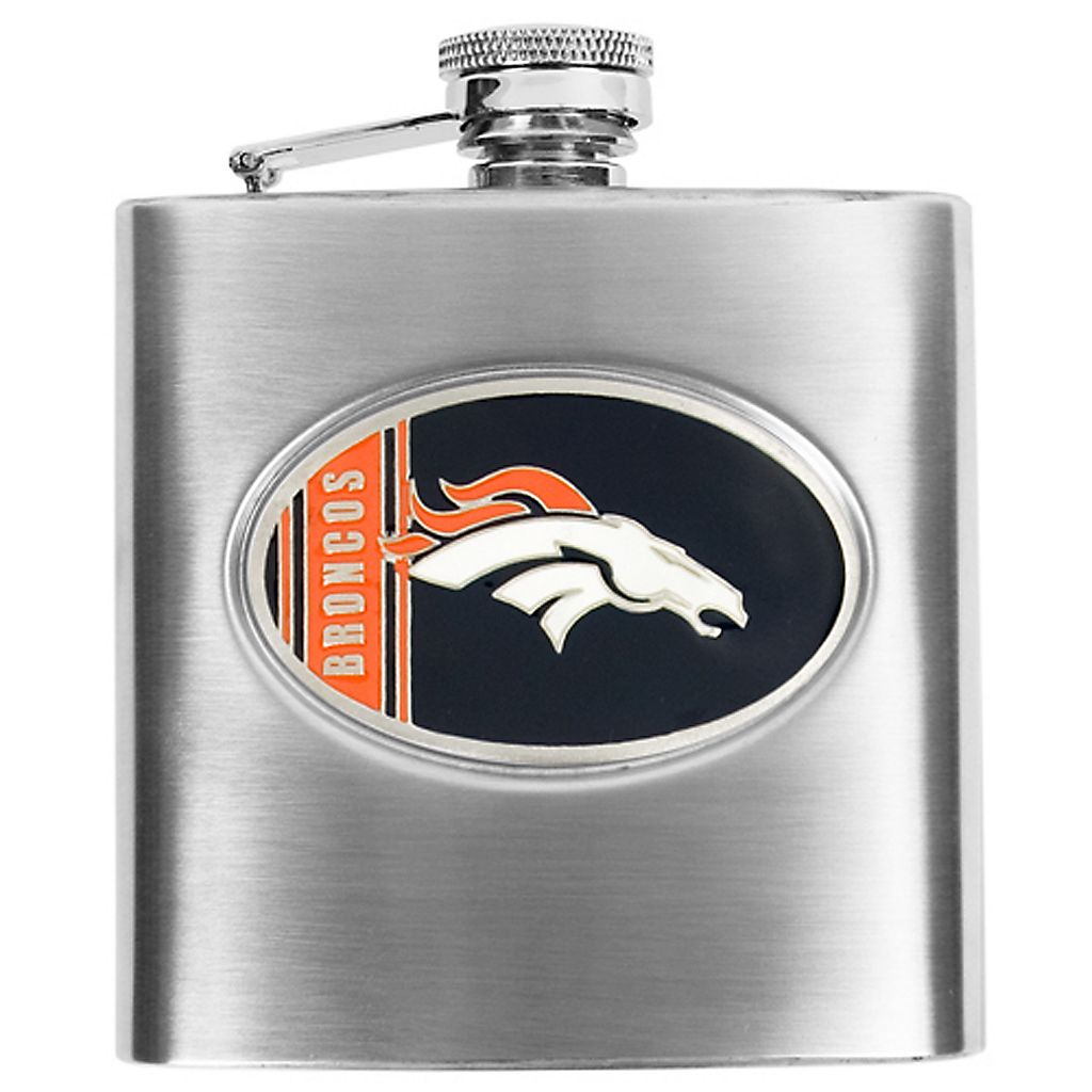 Denver BroncosStainless Steel Hip Flask