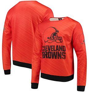 Men's Orange Cleveland Browns Static Rain Pullover Sweatshirt