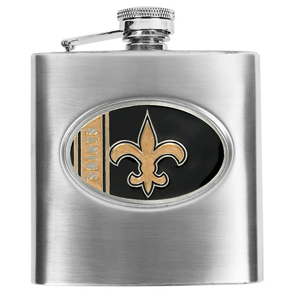 New Orleans SaintsStainless Steel Hip Flask