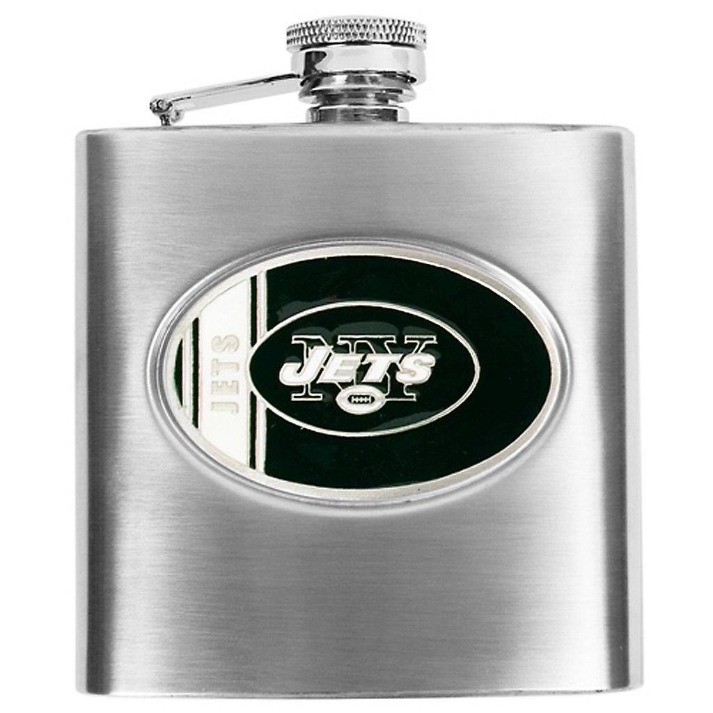New York JetsStainless Steel Hip Flask