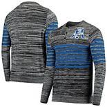 Men's Gray New England Patriots Retro Marled Knit Long Sleeve Henley T-Shirt