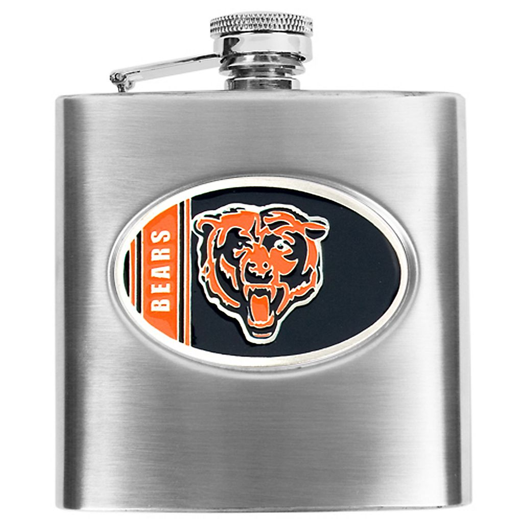 Chicago Bears 6-Ounce Stainless Steel Hip Flask