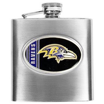 Baltimore RavensStainless Steel Hip Flask