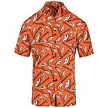 Men's Orange Denver Broncos Repeat Logo Button-Up Shirt