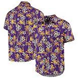 Men's Purple Minnesota Vikings Floral Woven Button-Up Shirt