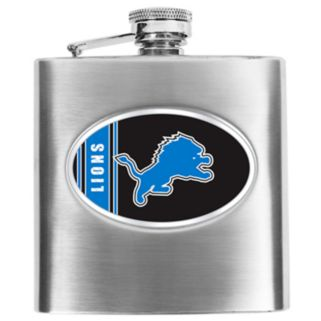 Detroit Lions Stainless Steel Hip Flask