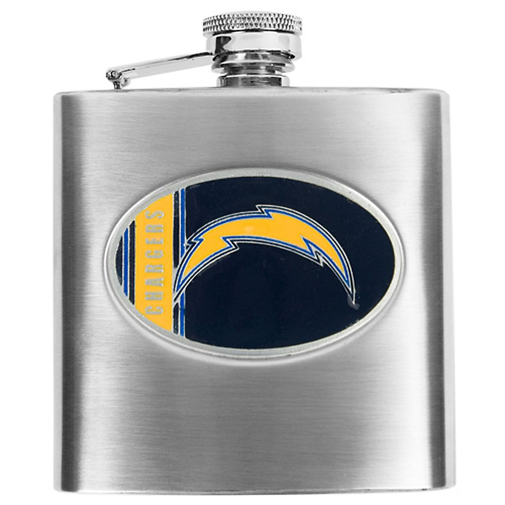 San Diego ChargersStainless Steel Hip Flask