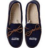 Men's Seattle Seahawks Big Logo Moccasin Slippers