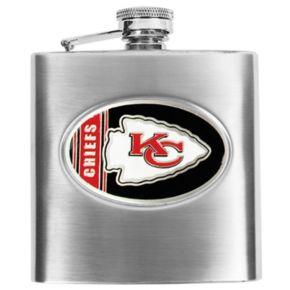Kansas City Chiefs Stainless Steel Hip Flask