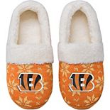 Women's Cincinnati Bengals Ugly Knit Moccasin Slippers