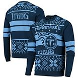 Men's Navy/Light Blue Tennessee Titans Light Up Ugly Sweater