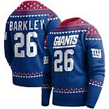 Men's Saquon Barkley Royal New York Giants Player Name & Number Pullover Sweater