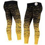 Women's Black Pittsburgh Steelers Static Knit Leggings