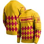 Men's Gold Washington Redskins Retro Sweater