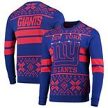 Men's Royal/Red New York Giants Light Up Ugly Sweater