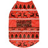 Cleveland Browns Holiday Wordmark Dog Sweater