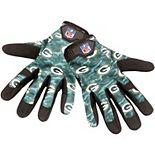 Men's Green Bay Packers Heavy Duty Camouflage Work Gloves
