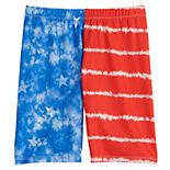 Girls 4-20 SO® Patriotic Bike Shorts