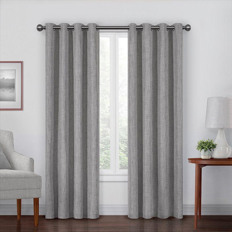 Eclipse Gemini Blackout Window Curtain. Grey. 50X108