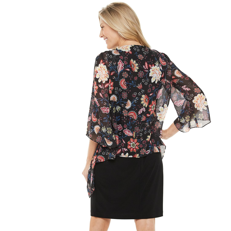 Women's Croft & Barrow® Chiffon Cardigan & Sheath Dress Set