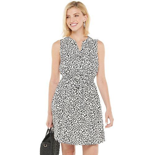 Petite Apt. 9® Pintuck Shirt Dress