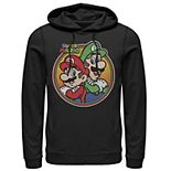 Men's Nintendo Super Mario & Luigi Brothers Circle Hoodie