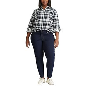 Plus Size Chaps Button Down Shirt