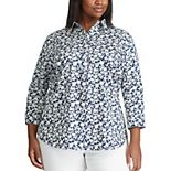 Plus Size Chaps Button Down Shirt