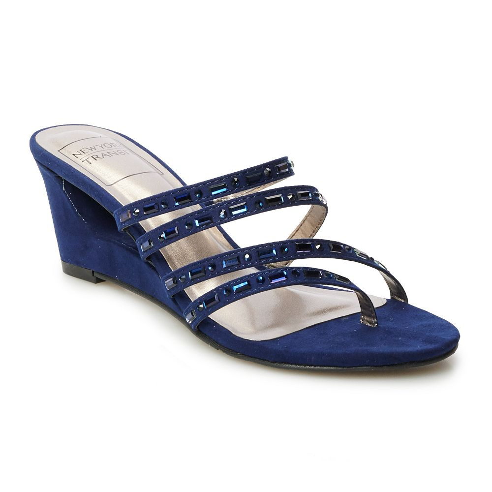 New York Transit Funlicious Women's Strappy Wedge Sandals