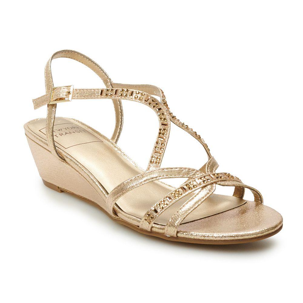 New York Transit Textlite Women's Strappy Wedge Sandals