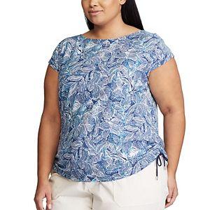 Plus Size Chaps Side Tie Knit Top