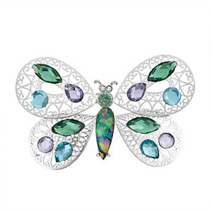 Napier Multi-Color Butterfly Pin