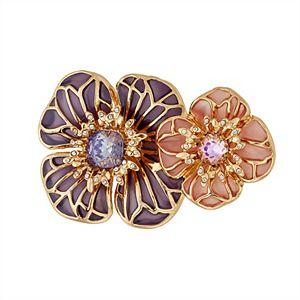 Napier Purple & Pink Floral Pin