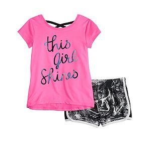 Toddler Girl Jumping Beans® Active Tee & Shorts Set