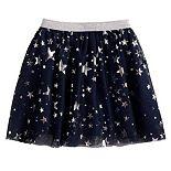 Toddler Girl Jumping Beans® Foiled Star Tulle Skirt