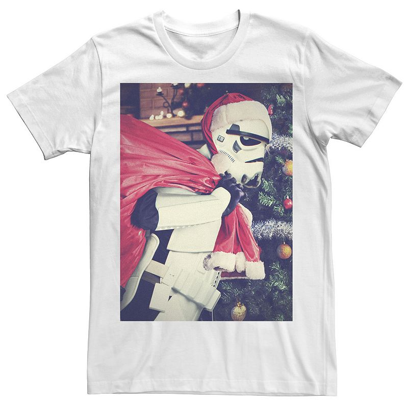 Men's Star Wars Stormtrooper Gift Giver Portrait Tee. Size: Small. White