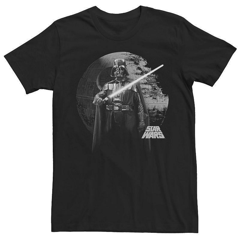 Men's Star Wars Darth Vader Death Star Portrait Tee. Size: Small. Black