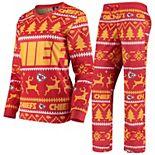 Women's Red Kansas City Chiefs Holiday Pajama Set