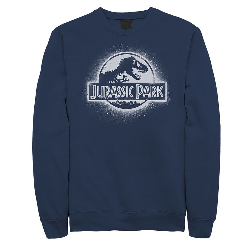 This men\\\'s Jurassic Park paint sweatshirt is a stroke of genius. Crewneck Long sleeves FABRIC & CARE Cotton, polyester Machine wash Imported Color: Navy. Gender: male. Age Group: adult. Pattern: Graphic. Material: Fleece.