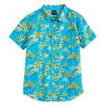 Boys 8-20 Tropical Print Button-Up Shirt